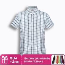 Áo sơ mi nam tay lỡ họa tiết The Shirts Studio Hàn Quốc TD45F6130GR095