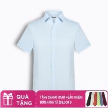 Áo sơ mi nam tay ngắn trơn màu The Shirts Studio Hàn Quốc TD10F2318BL