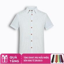 Áo sơ mi nam tay ngắn họa tiết The Shirts Studio Hàn Quốc TD13F2302BL