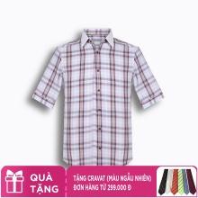Áo sơ mi nam tay ngắn họa tiết The Shirts Studio Hàn Quốc TD13F2359BL