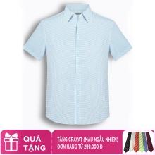 Áo sơ mi nam tay ngắn họa tiết The Shirts Studio Hàn Quốc TD42F2178BL
