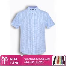 Áo sơ mi nam tay ngắn họa tiết The Shirts Studio Hàn Quốc TD42F2114BL095