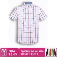 Áo sơ mi nam tay ngắn họa tiết The Shirts Studio Hàn Quốc TD45F6137NY95