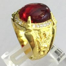 Nhẫn nam đá ruby mạ vàng 18k - RM0961