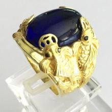 Nhẫn nam mạ vàng 18k đá thạch anh - RM0959