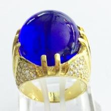 Nhẫn nam mạ vàng 18k đá thạch anh - RM0957