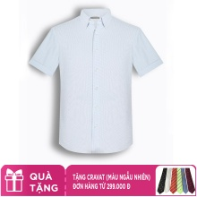 Áo sơ mi nam tay ngắn họa tiết The Shirts Studio Hàn Quốc TD45F6119BL100