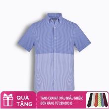 Áo sơ mi nam tay ngắn họa tiết The Shirts Studio Hàn Quốc TD42F2315BL095