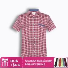 Áo sơ mi nam tay ngắn họa tiết The Shirts Studio Hàn Quốc TD13F2390RE