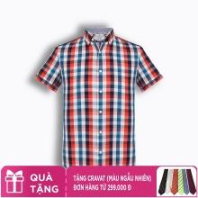 Áo sơ mi nam tay ngắn họa tiết The Shirts Studio Hàn Quốc TD13F2364RE