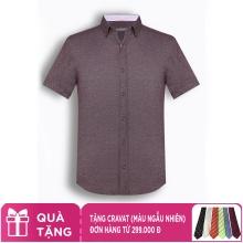Áo sơ mi nam tay ngắn họa tiết The Shirts Studio Hàn Quốc TD42F2326WI