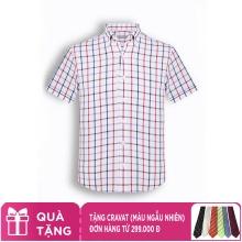 Áo sơ mi nam tay ngắn họa tiết The Shirts Studio Hàn Quốc TD42F2903WH