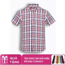 Áo sơ mi nam tay ngắn họa tiết The Shirts Studio Hàn Quốc TD13F2363RE