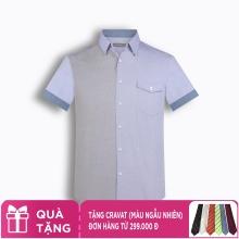 Áo sơ mi nam tay ngắn họa tiết The Shirts Studio Hàn Quốc TD45F6117BL