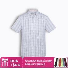 Áo sơ mi nam tay ngắn họa tiết The Shirts Studio Hàn Quốc TD42F2309BL