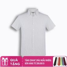 Áo sơ mi nam tay ngắn họa tiết The Shirts Studio Hàn Quốc TD45F6120NY
