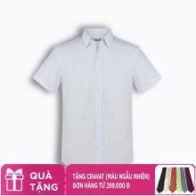 Áo sơ mi nam tay ngắn họa tiết The Shirts Studio Hàn Quốc TD42F2182BL