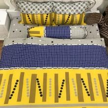 Bộ ga gối 100 cotton sợi bông nhập khẩu Hàn Quốc Julia (bộ 4 món k chăn) 247BK16