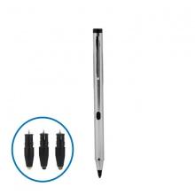 Bút cảm ứng stylus đầu ngòi nhỏ Promax P1 Plus ( Gồm 2 đầu ngòi nhựa, 2 đầu kim loại - Màu bạc)