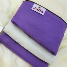 Bộ ga gối cotton satin Ai Cập Julia (bộ 4 món k chăn) 541BK16