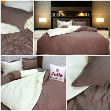 Bộ chăn ga gối cotton satin Ai Cập Julia (bộ 5 món có chăn chần gòn) 539BG16