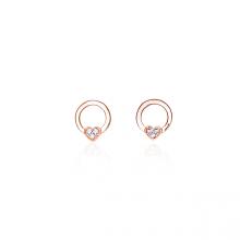 Bông tai vàng hồng cao cấp Lộc Phúc I1C.DEE1979E-R