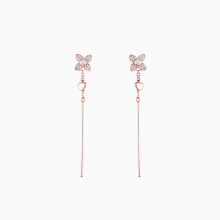Bông tai vàng hồng cao cấp Lộc Phúc I1C.DEE1839E-R