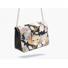 Túi hộp Flora - hoa xám - D09S402