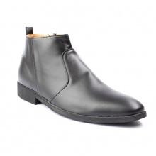 Giày Chelsea Boot Nam Cổ Khóa Da Nhám Màu Đen Cực Chất - CB521- nhám