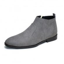 Giày chelsea boot nam cổ khóa rất dễ xỏ da búc màu xám cực đẹp - CB521- búcxam
