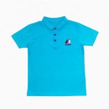 Áo thun bé trai thêu thuyền Vinakids màu xanh (7-12 tuổi)