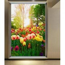 Tranh dán tường 3D hoa tulip 1 TDT04 (Kích thước:100x150cm)