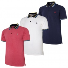 Bộ 3 Áo thun nam polo bo dệt logo thêu đẹp chuẩn mọi phong cách Pigofashion AHT15 đỏ, trắng, xanh đen