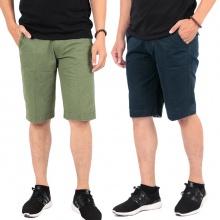 Bộ 2 quần short kaki nam Pigofashion cao cấp chuẩn phong cách PSK01 rêu xám, xanh đen