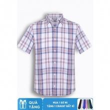 Áo sơ mi nam tay ngắn họa tiết The Shirts Studio Hàn Quốc TD13F2342RE
