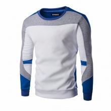 Áo thun nam dài tay phối màu cao cấp ATN04 - trắng phối xanh