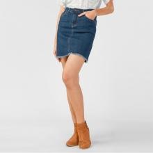 Váy jeans nữ Papka tua lai 4006-Xanh nhạt
