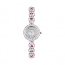 Mua 1 tặng 1- Mua đồng hồ nữ chính hãng Royal Crown 5308 dây đá vỏ trắng đá ruby tặng đồng hồ TATEOSSIAN