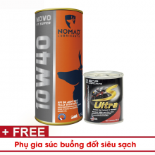 Combo mua nhớt Tổng hợp toàn phần NOMAD 1.1L API SN Tặng 1 dung dịch vệ sinh buồng đốt S-Ultra