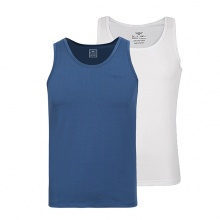 Combo 2 áo lót nam Standardmen SABC 02 - xanh + trắng