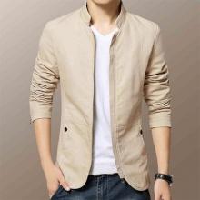 Áo khoác kaki nam kiểu vest 2 lớp cao cấp Bonado BN16 - kem