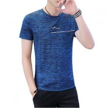 Áo thun ngắn tay cổ tròn cao cấp hè 2019 ATN05 - màu xanh