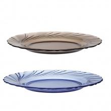 Bộ 2 dĩa cạn thủy tinh chịu lực Duralex Pháp Beau Rigave 23.5 cm