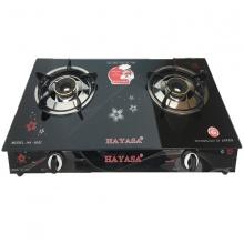 Bếp Gas đôi kính cường lực - Hayasa. Model:  HA-8092
