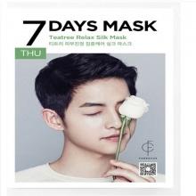 Mặt nạ tơ tinh chất trà - thứ 5 - Forencos 7Days Teatree Relax Silk Mask 25ml