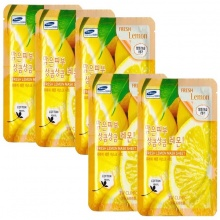 Bộ 5 mặt nạ 3w clinic fresh lemon mask sheet x5