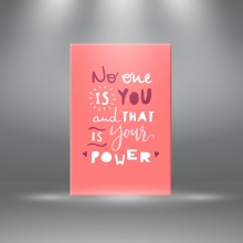 """Tranh canvas tạo động lực"""" No one is you and that is your power"""" tranh ý nghĩa W3370"""