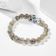 Vòng tay nữ đá labradorite phối charm Tỳ Hưu 6mm - Ngọc Quý Gemstones