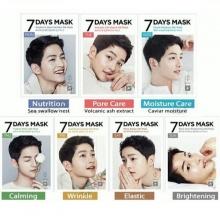 Hộp 7 miếng mặt nạ giấy song joong-ki forencos 7 days mon, tue, web, thu, friday, sta, sun 25ml