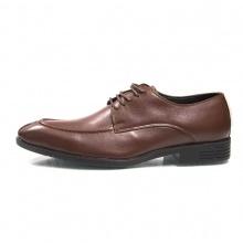 Giày buộc dây nam màu nâu da bò - Chính hãng Geleli